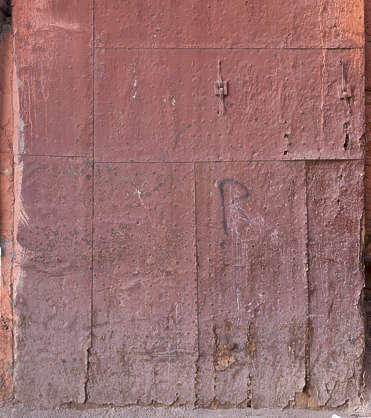 metal painted old door worn medieval