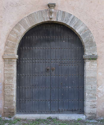 morocco door wood arch old medieval