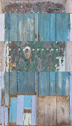 morocco door wood painted single old medieval