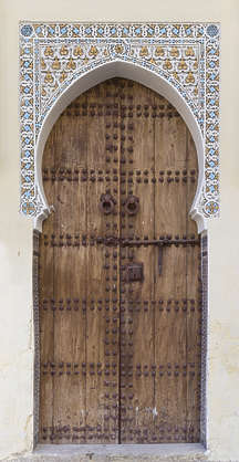 morocco door wood medieval old planks arch