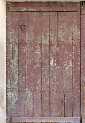 morocco door wood medieval old planks painted