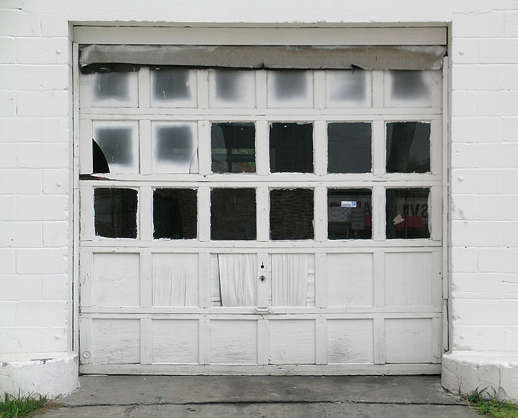door garage windows wood
