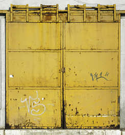 door garage metal paint rust