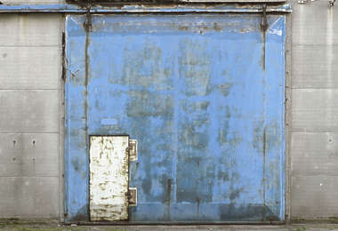 door industrial metal painted old