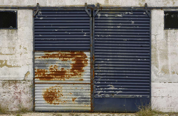 door metal garage rust plates