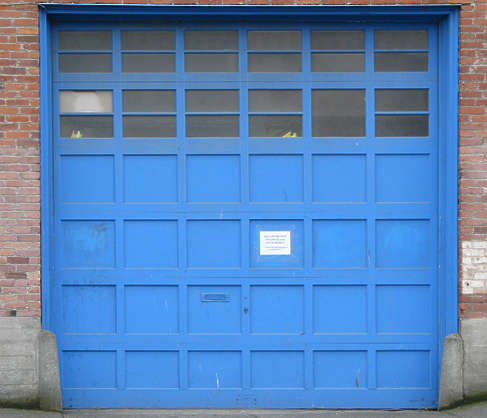 door garage wood panels