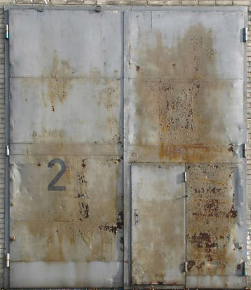 door metal industrial rust rusted garage