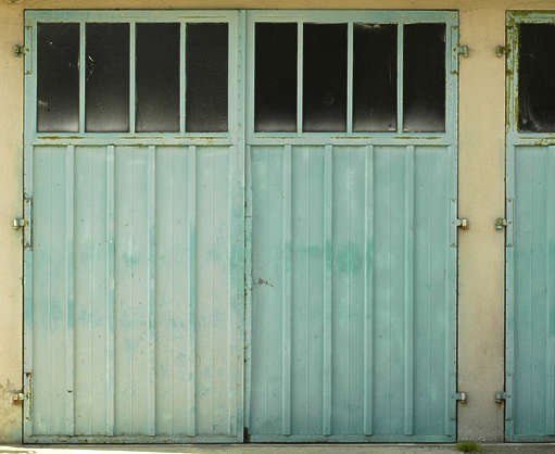 door metal garage metal