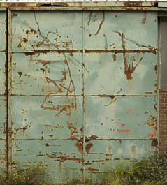 metal door double big rust rusted
