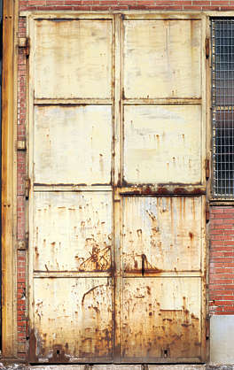 door double metal industrial rust
