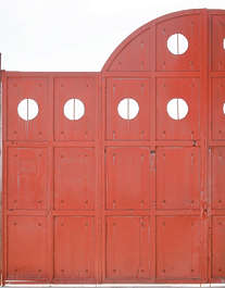 door metal fence plates
