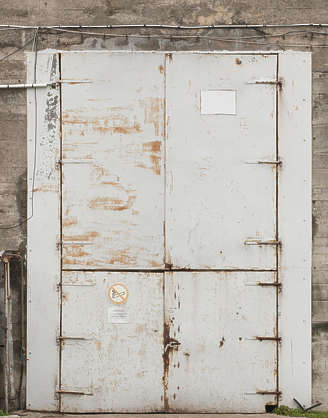 door industrial huge big metal