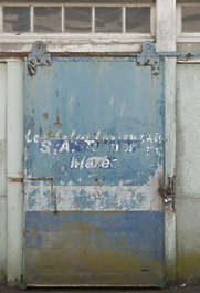 door industrial big huge painted