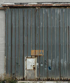 door metal plates rust