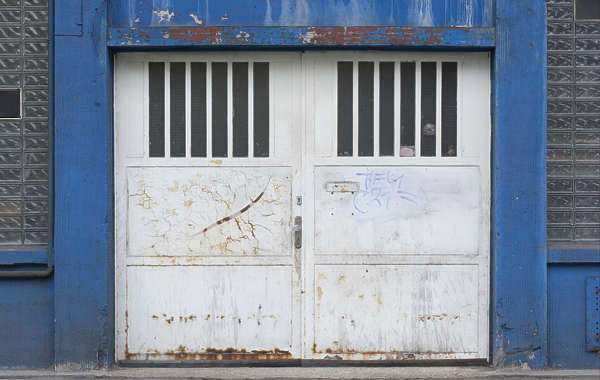 door double metal industrial garage gate
