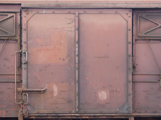 door metal train dirty