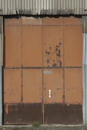 door metal paint rust