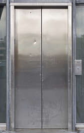 usa seattle metal door reflective elevator stainless