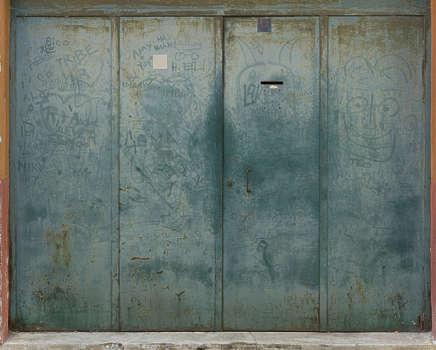 Metal Door Texture