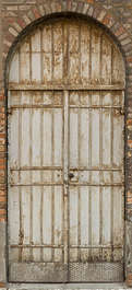 venice italy door metal double rusted arch round