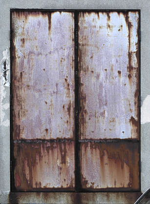 door industrial metal rust old paint