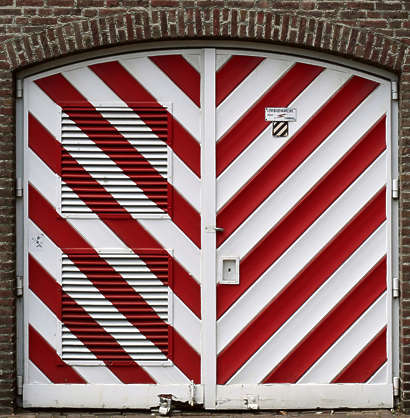 door stripes double garage
