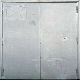door industrial metal double