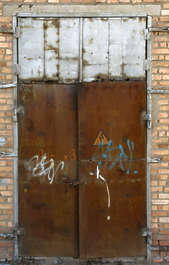 door metal old