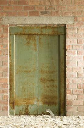 Door Rust Rusty Elevator Rusted Double