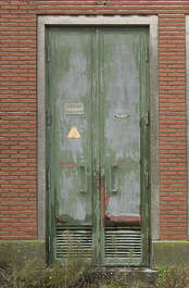 door metal double old