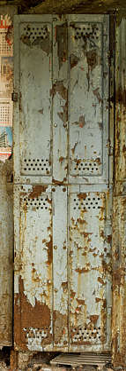 locker lockers metal old door rusted