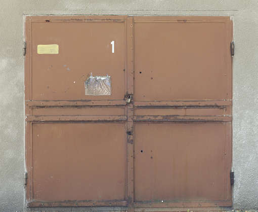 door metal double industrial