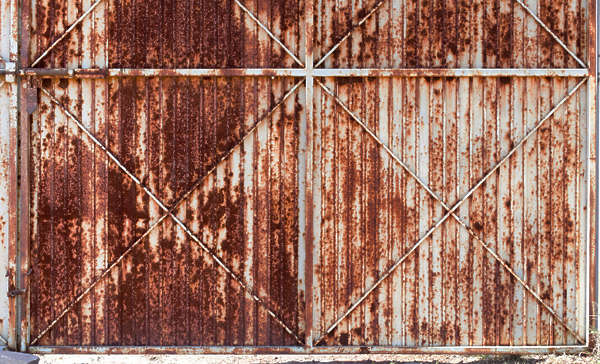 metal plate plates fence rusted door rust