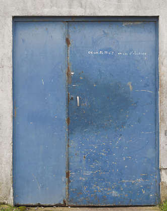 door industrial metal