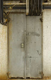 door double old dirty metal hong kong hongkong