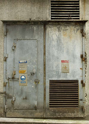 door double old dirty metal vent hong kong hongkong