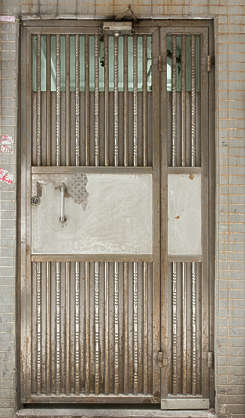 door single metal old hong kong hongkong