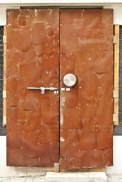 south korea metal doors double