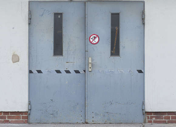 door double metal industrial