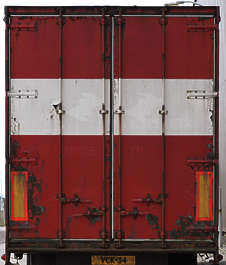 door container truck rust dirty
