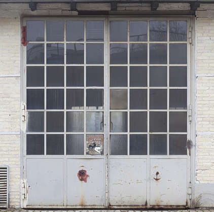 door industrial double metal