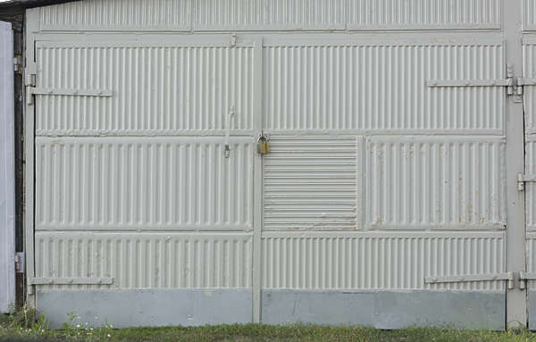 door double metal garage