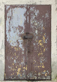 door double metal rusted old