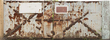 rust rusted paint gate door double gate old dirty