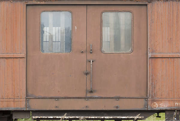 metal door double train