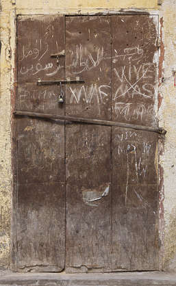 morocco metal door rusted old worn
