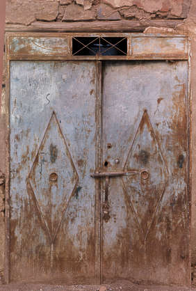 morocco metal door double rusted