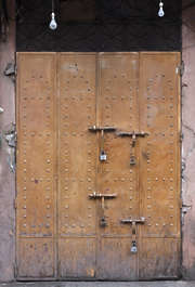 morocco door metal double