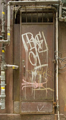 door single metal old dirty hong kong hongkong grafitti graffitti grafiti
