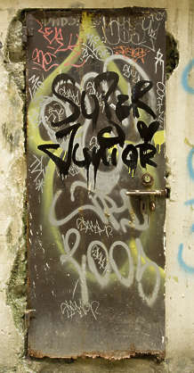 door single metal old hong kong hongkong grafitti graffitti grafiti